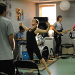 picture of a worship team with a dancer